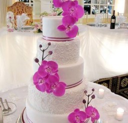 1024x1365px Orchid Wedding Theme Picture in Wedding Cake