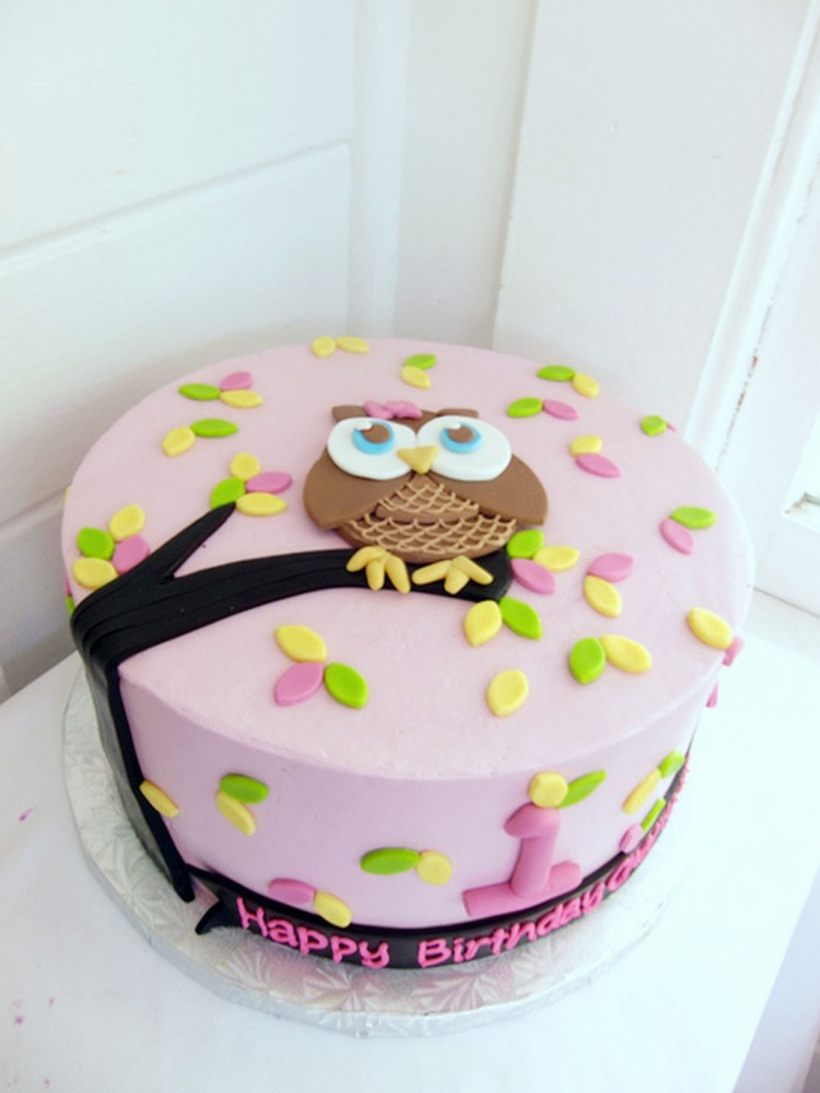 Owl Birthday Cake Picture in Birthday Cake