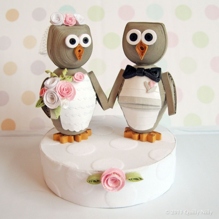 Owl Love You Forever Wedding Cake Topper Picture in Wedding Cake