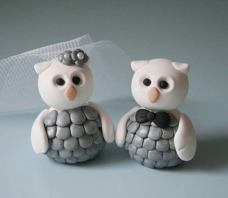 Owl Wedding Cake Topper Picture in Wedding Cake