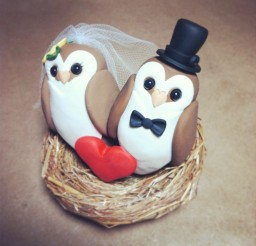 1024x1024px Owl Wedding Cake Topper Ideas Picture in Wedding Cake