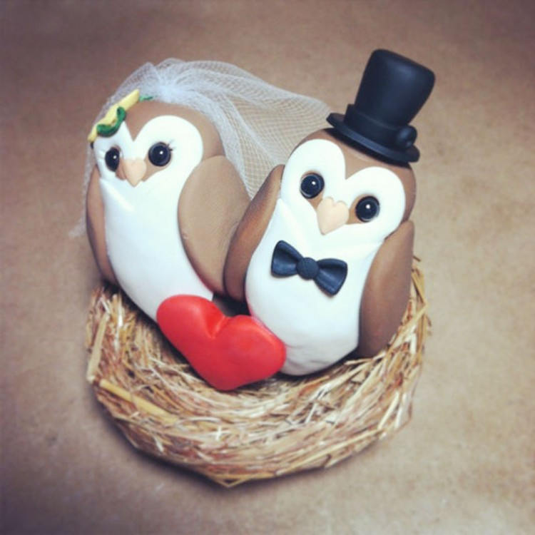 Owl Wedding Cake Topper Ideas Picture in Wedding Cake