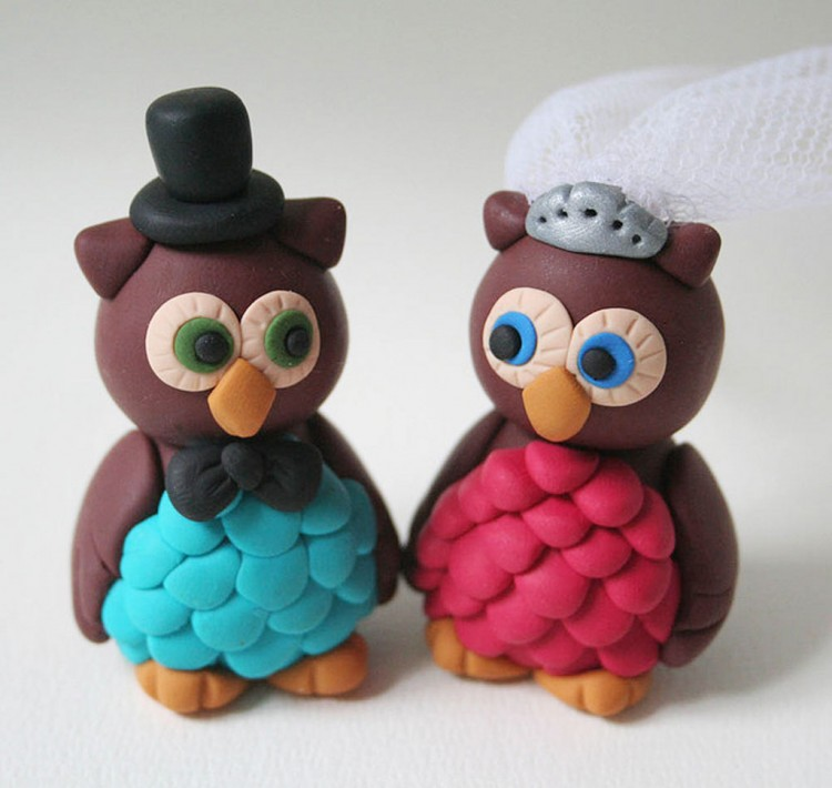 Owl Wedding Cake Toppers Picture in Wedding Cake