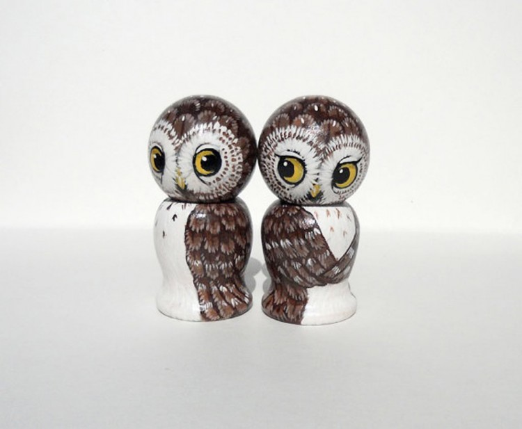 Owl Getting Married Wedding Cake Toppers Picture in Wedding Cake
