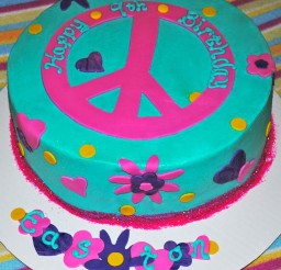 1024x1144px Peace Sign Birthday Cakes Picture in Birthday Cake