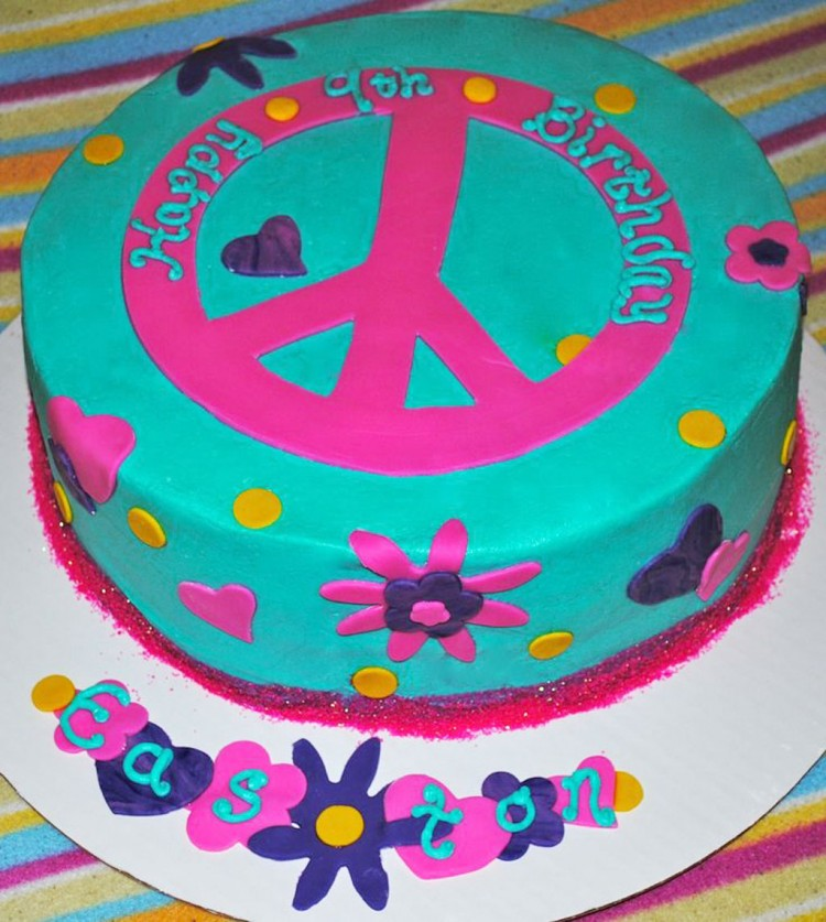 Peace Sign Birthday Cakes Picture in Birthday Cake