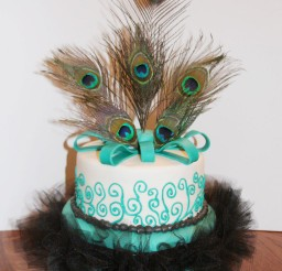 1024x1433px Peacock Feather Wedding Cake Design Picture in Wedding Cake