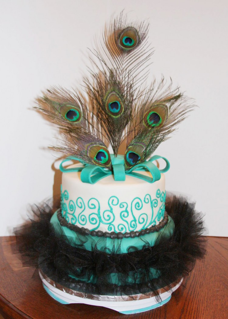 Peacock Feather Wedding Cake Design Picture in Wedding Cake