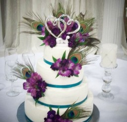 1024x1341px Peacock Feather Wedding Ideas Picture in Wedding Cake