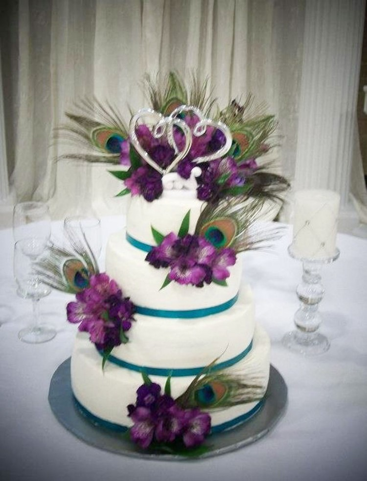 Peacock Feather Wedding Ideas Picture in Wedding Cake