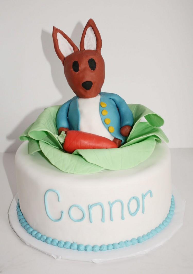 Peter Rabbit 1st Birthday Cake Picture in Birthday Cake