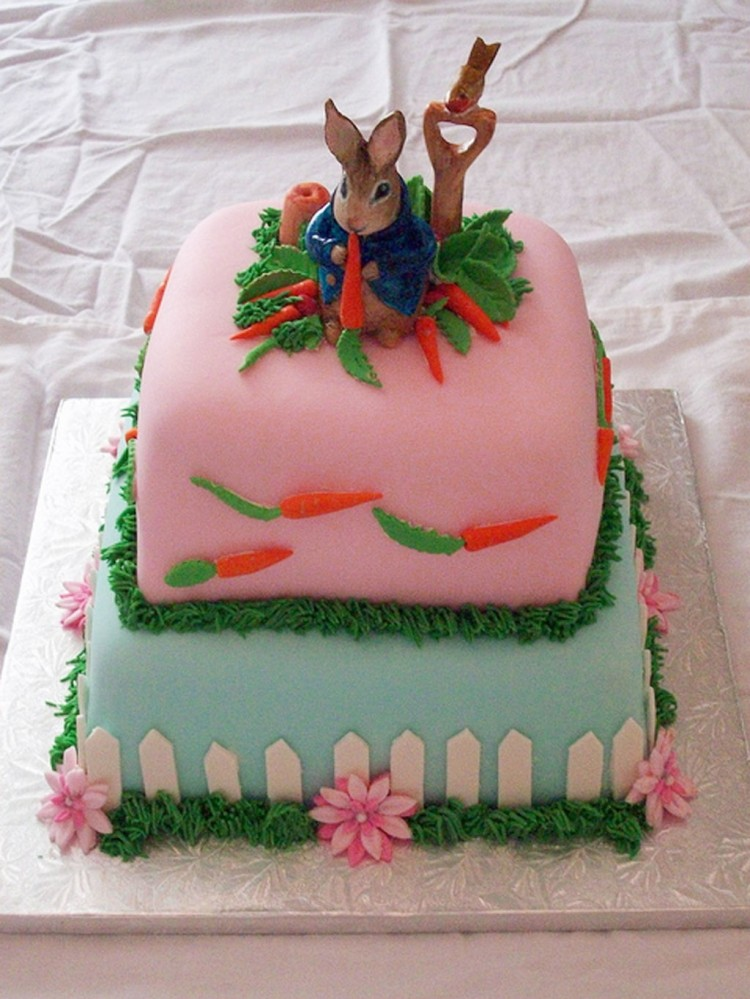 Peter Rabbit Birthday Cake Decoration Picture in Birthday Cake