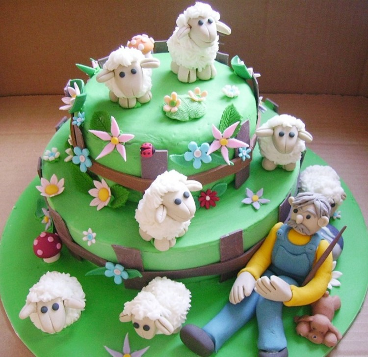 Pin P Sheep Birthday Cake Ideas Picture in Birthday Cake