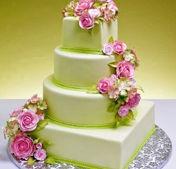 1024x1237px Pink And GreenTheme Wedding Cakes Picture in Wedding Cake
