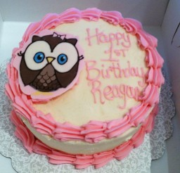 1024x1024px Pink Owl Birthday Cake Picture in Birthday Cake