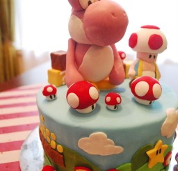 1024x1526px Pink Yoshi Birthday Cake Picture in Birthday Cake