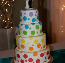 1024x1535px Polca Dot Funfetti Wedding Cake Picture in Wedding Cake