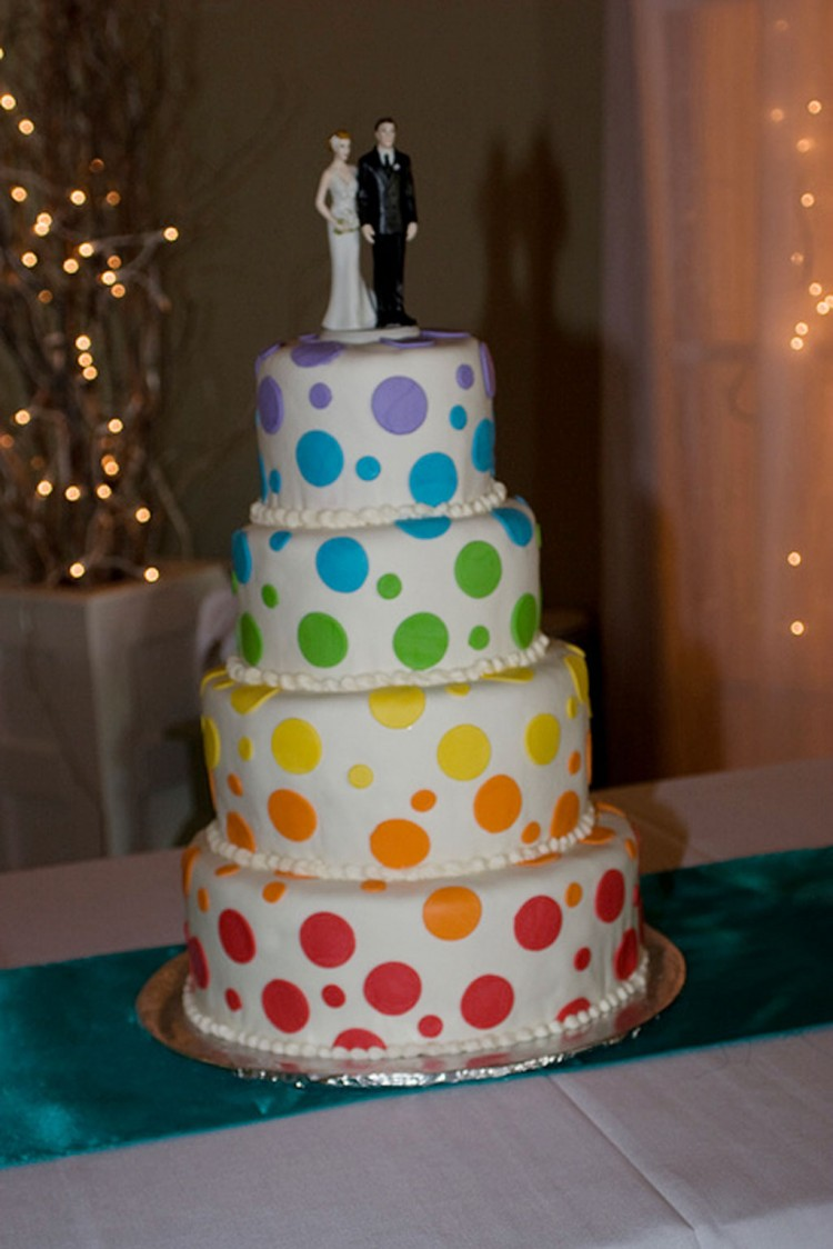Polca Dot Funfetti Wedding Cake Picture in Wedding Cake