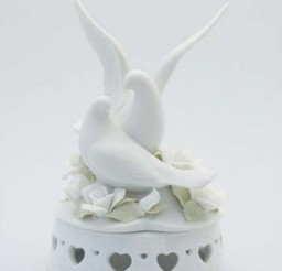 1024x1364px Porcelain Doves Wedding Cake Topper Picture in Wedding Cake