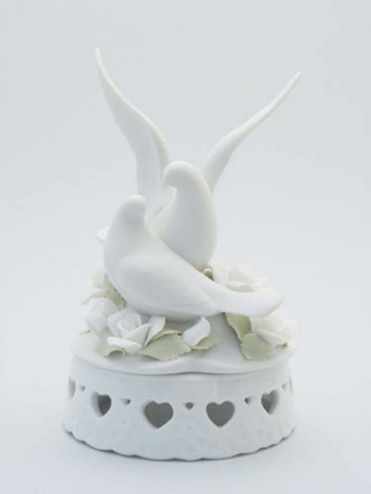 Porcelain Doves Wedding Cake Topper Picture in Wedding Cake