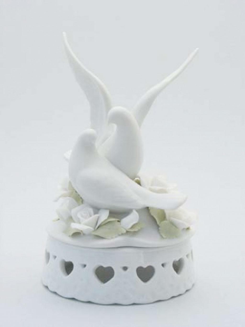 Porcelain Doves Wedding Cake Topper Wedding Cake - Cake Ideas by ...