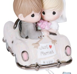 1024x1391px Precious Moments Just Married Wedding Car Cake Topper Picture in Wedding Cake