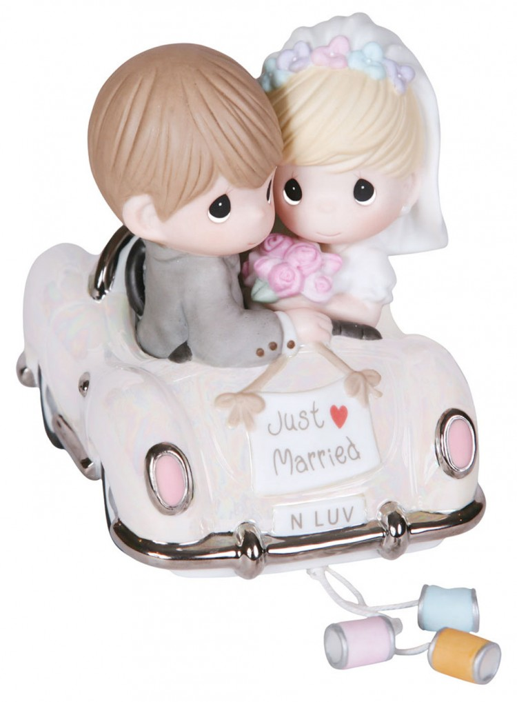 Precious Moments Just Married Wedding Car Cake Topper Picture in Wedding Cake