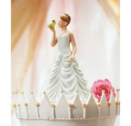 1024x1024px Princess And Frog Wedding Figurine Cake Topper Picture in Wedding Cake