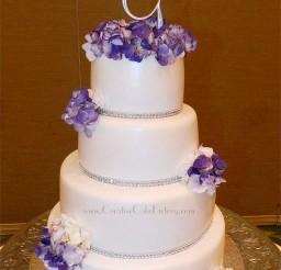 1024x1625px Purple Hydrangea Wedding Cake Picture in Wedding Cake