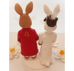 1024x1024px Rabbit Wedding Cake Topper Picture in Wedding Cake