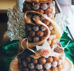 1024x1535px Real French Wedding Cake With Cream Puffs Picture in Wedding Cake