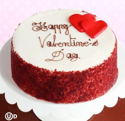 1024x1024px Red Velvet Happy Valentines Day Cake Picture in Valentine Cakes