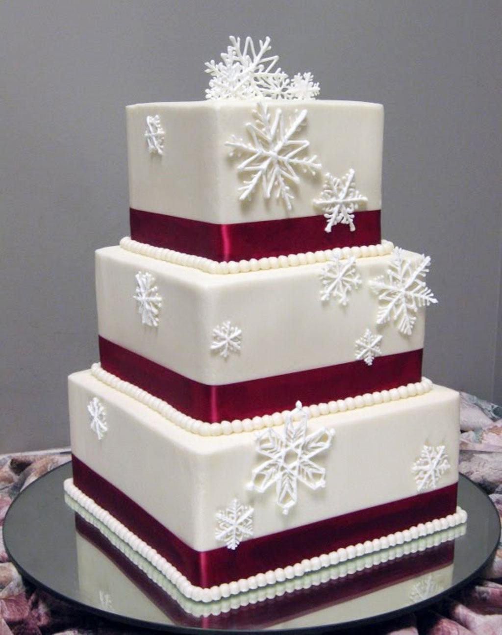 Red Winter Wedding Cakes Winter Wedding Cake Cake Ideas