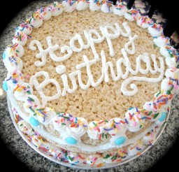 1024x1021px Rice Krispie Birthday Cake Picture in Birthday Cake