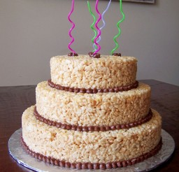 1024x1365px Rice Krispie Cake For Birthday Picture in Birthday Cake