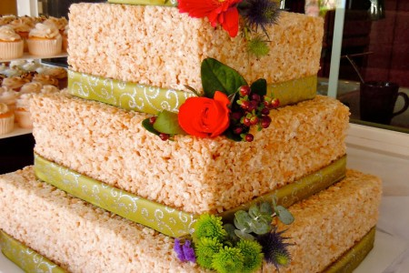 rice krispie wedding cake wedding cake cake ideas by. Black Bedroom Furniture Sets. Home Design Ideas