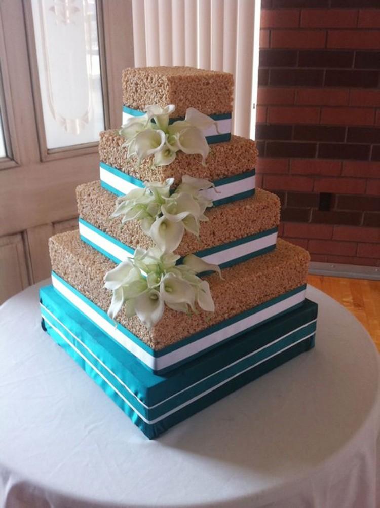 Rice Krispie Wedding Cake Decoration Picture in Wedding Cake