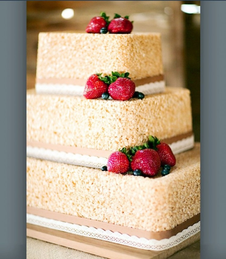 Rice Krispie Cake For Wedding Picture in Wedding Cake