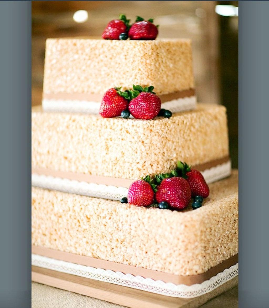 rice krispie cake for wedding wedding cake cake ideas by. Black Bedroom Furniture Sets. Home Design Ideas