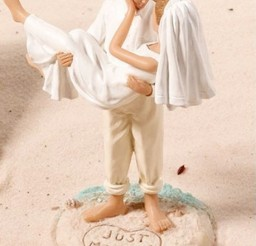 1024x1423px Romantic Beach Wedding Cake Topper Picture in Wedding Cake