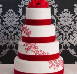 1024x1541px Romantic Red Wedding Cake Designs Picture in Wedding Cake