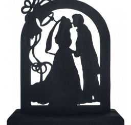 1024x1024px Romantic Silhouette Wedding Cake Topper Picture in Wedding Cake