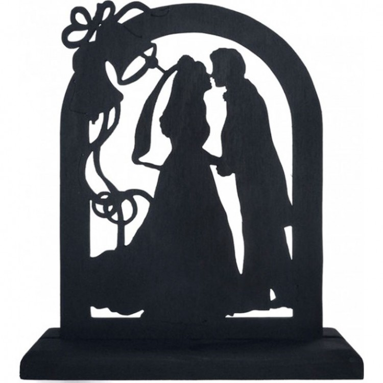 Romantic Silhouette Wedding Cake Topper Picture in Wedding Cake