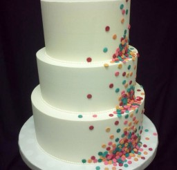 1024x1365px Round Funfetti Wedding Cakes Picture in Wedding Cake