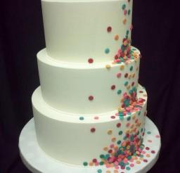 1024x1365px Round Funfetti Wedding Cakes Picture in Wedding Cake