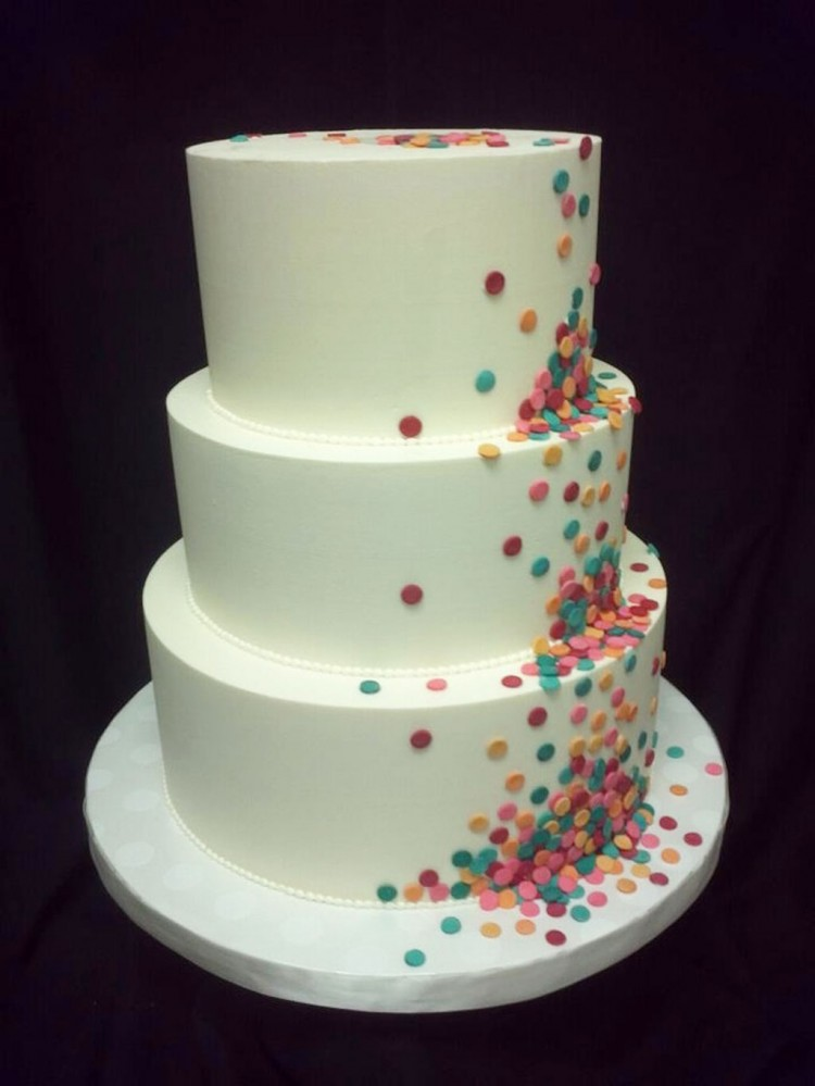Round Funfetti Wedding Cakes Picture in Wedding Cake