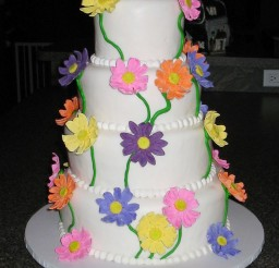 1024x1369px Round Gerber Daisy Wedding Cakes Picture in Wedding Cake