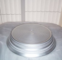 1024x1364px Round Satin Silver Wedding Cake Stand Picture in Wedding Cake