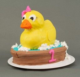 1024x683px Rubber Ducky 1st Birthday Cake Picture in Birthday Cake