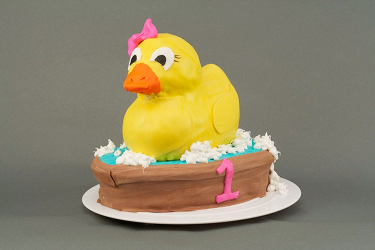 Rubber Ducky 1st Birthday Cake Picture in Birthday Cake
